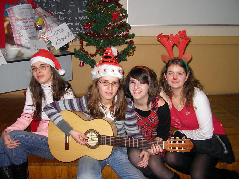 Students, Brit Club, Christmas