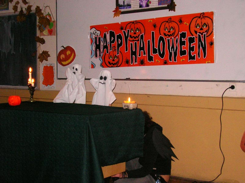 "Decorations, Brit Club, Halloween, ""Unirea"" National High School"