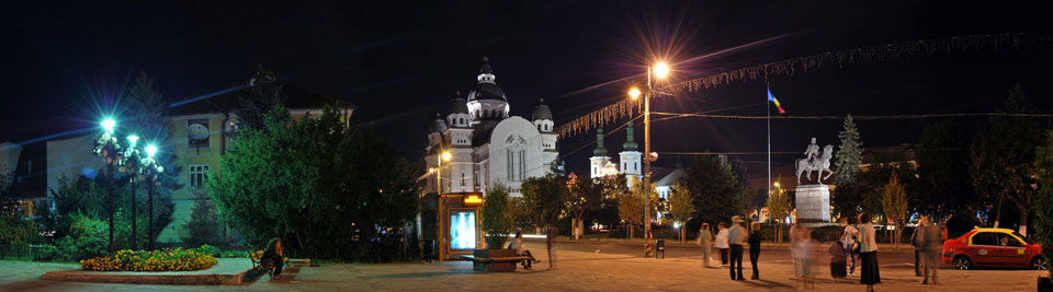 Roses Square, Big Orthodox Cathedral and Roman-Catholic Cathedral